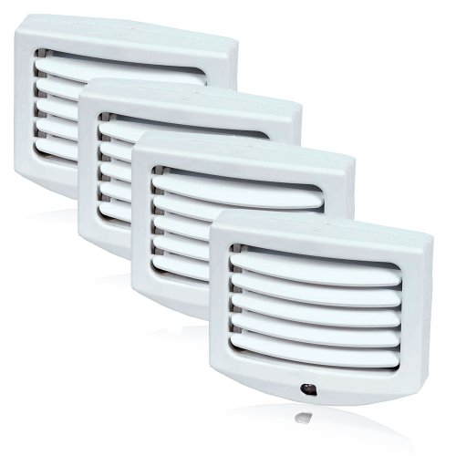 Maxxima MLN-11 LED Night Light with Adjustable Louvers and Sensor in Pack of 4