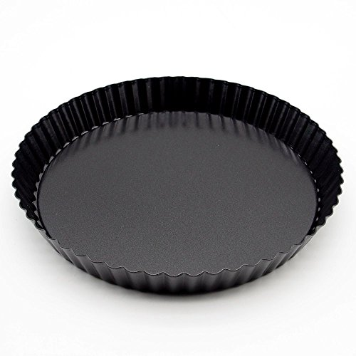 Wenwins nonstick bottom tart pan pie pan quiche pan 9 inch black