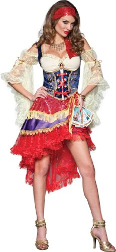 InCharacter Costumes Good Fortune Gypsy Costume, Red/Tan/Blue, Large