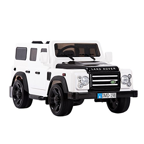 Aosom 12V Land Rover Defender Kids Electric Ride On Car with MP3 and Remote Control - White (Battery Powered Two Seater Car compare prices)