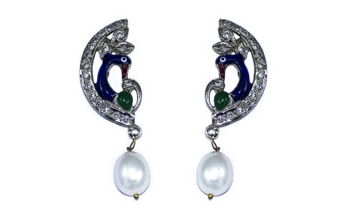 Jewel Addiction Peacock Earrings (multicolor)