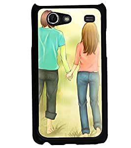 Printvisa Love Couple Walking On The Grass Back Case Cover for Samsung I9070 Galaxy S Advance::Samsung Galaxy S II Lite