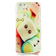 buy Mollycoocle Fashion Style Painted Pc Skin Phone Back Cover Shell Protective Shell With Colorful Lovely Marshmallow Pattern For Iphone6 4.7 Inch