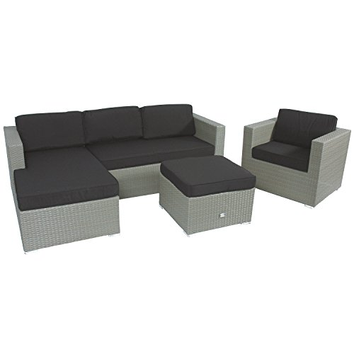 Lesli-Living-Supper-Club-Rattan-Lounge-Set-Eckbank-Jazz-1x-Bank-1x-Lounge-Tisch-1x-Sessel-Grau