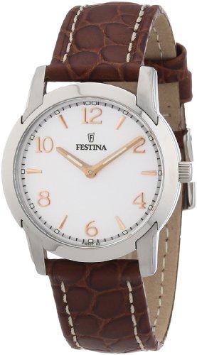 Festina F16507/3 - Reloj analógico de cuarzo para mujer con correa de piel, color marrón