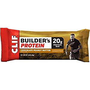 CLIF BUILDER'S - Protein Bar - Chocolate Peanut Butter - (2.4 oz, 12 Count)