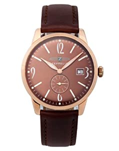 Zeppelin Mens Watch 73365 with Brown Dial and Brown Leather Strap