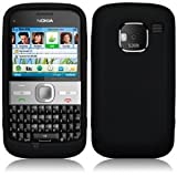 GVAccessories Nokia E5 Black Silicone Case