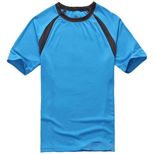 Molly Uomini Manica Corta Essiccamento Rapido Traspirante T Shirt Gemma Blu XL