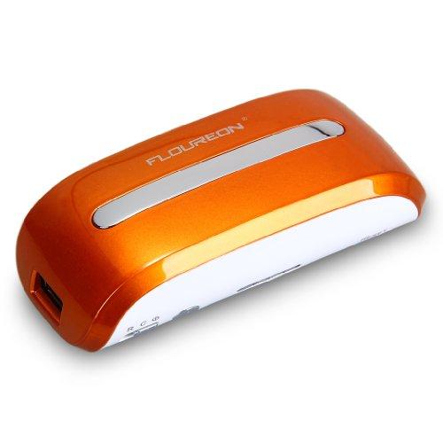 Wi-Fi接続バッテリー内蔵 5200mAh大容量モバイルルータ 無線ルーター 802.11b/g/n無線LANルーター 小型 ポケットタイプ USB給電で携帯に便利3G モバイル端末でインターネットへの接続が可能 WIFI USB Router Hotspot Power Bank 3.7V 5200mAh Li-ion Orange