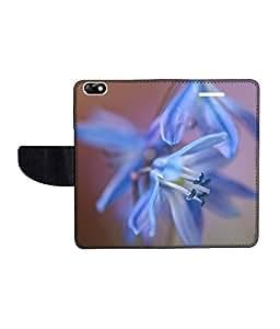 KolorEdge Printed Flip Cover For Huawei Honor 4X -Multicolor (55KeMLogo10756Honor4X)