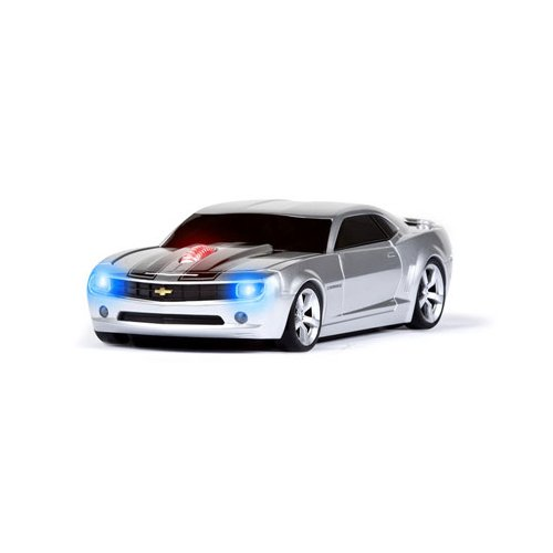 Wireless Mouse - Camaro Silver With Black Stripes