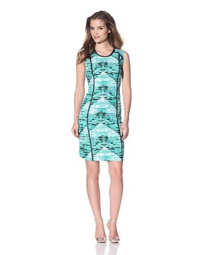 Calvin Klein Women's Seamed Sheath Dress  - Emerald Multi