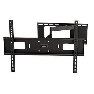 Ultra Slim Dual Arm Tilt and Swivel Adjustable Wall Mount Corner Bracket for 32 - 60 inch screen LCD LED Plasma 3D Flat Panel TV HDTV (VESA Standard up to 600x400mm)