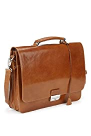 Leather Adjustable & Detachable Strap Briefcase