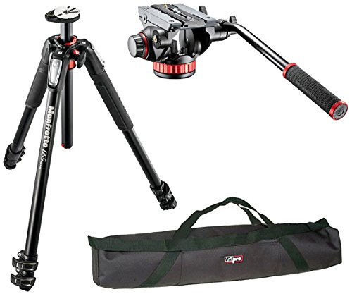 "Manfrotto Mt055Xpro3 / Mvh500Ah Professional Video Tripod Kit And A Vidpro 35"" Padded Case"
