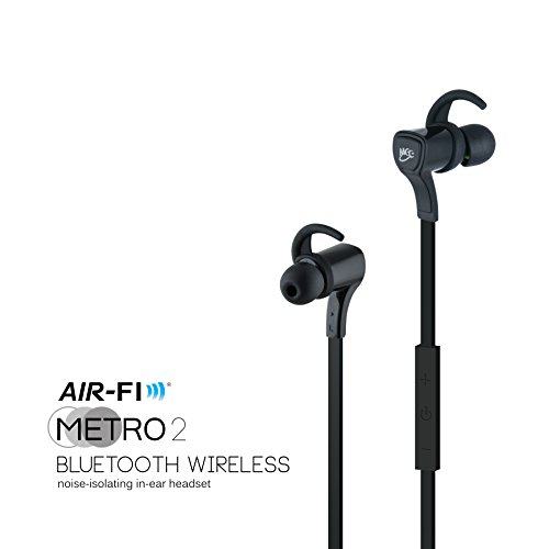 MEElectronics Air-Fi Metro2 AF72 Bluetooth Wireless Noise-Isolating In-Ear Stereo Headset