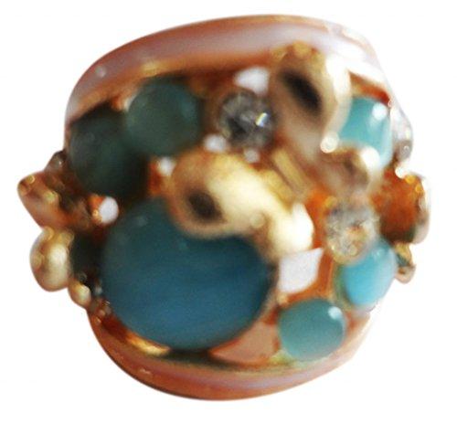 SUVI'S Turquoise Enamel Ring
