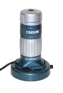 Carson MM-740 Z-Pix 34-168x Digital Zoom Microscope