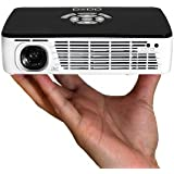 AAXA P300 Pico/Micro LED Projector with 60 Minute Battery Life, WXGA 1280x800 Resolution, 400 Lumens, HDMI, Mini-VGA, 15,000 Hour LED Life, Media Player