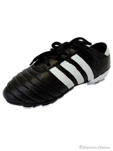 """7"""" Kids Room Decor Black Soccer Shoes/Cleats Money Piggy Bank"""