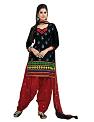 Vibes Charming Lady Pure Cotton Straight Fit Salwar Kameez - B00OKEOSX2