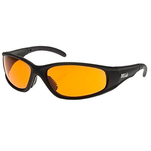 LIFT Safety Strobe Safety Glasses (Black Frame/Amber Lens)