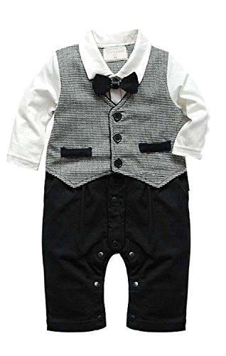 Baby Boy Toddler Newborn Gentleman One-piece Romper ...
