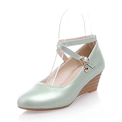 Ms. round slope with a single shoe/Comfortable in heels/Cross straps student shoes