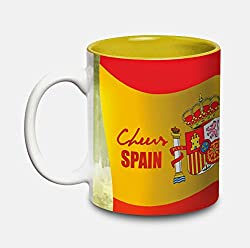 Hot Muggs Cheers Spain Ceramic Flags Mug 350ml, 1 Pc