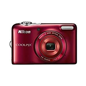 Nikon COOLPIX L30 20.1MP 5x Zoom HD Video Digital Camera Red (Certified Refurbished)