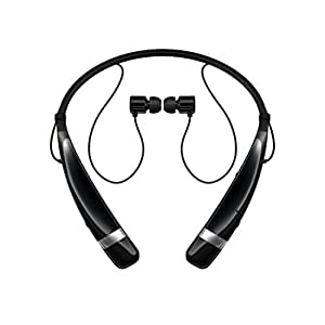 TRENIXX Wireless Bluetooth Headset Black for Micromax A111 Canvas
