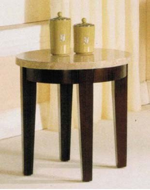 Cheap End Table with Faux Marble Top in Espresso Finish by Acme (VF_AM17143)