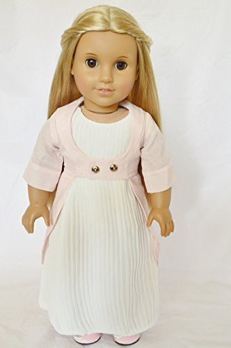 GEORGIAN ERA COLONIAL GOWN FOR AMERICAN GIRL DOLLS