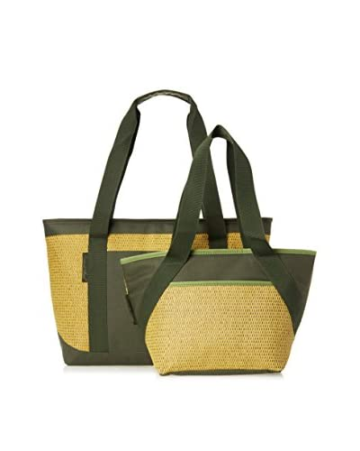 Picnic at Ascot Eco Collection Large and Small Cooler Tote Set, Forest Green