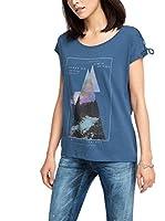 edc by ESPRIT Camiseta Manga Corta (Azul Oscuro)