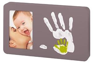Baby Art 34120054 - Duo Paint Print Frame - Bilderrahmen für Farb-Handabdruck, Taupe