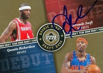Quentin Richardson Autographed Basketball Card (New York Knicks) 2006 Upper Deck #Dd-Sr