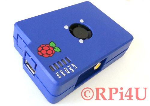 Raspberry Pi Case Blueberry With Fan, Heatsink - Overclock Kit ! front-206822