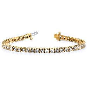 14k AAA Diamond tennis bracelet Diamond quality AAA (SI2 clarity, G-I color)