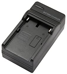STK's Sony NP-FM50 Battery Charger - for Sony NP-FM55H, BC-TRM, QM71D, QM91D Batteries and Sony HDR-HC1, Sony DCR-TRV280, Sony DCR-TRV350, Sony CCD-TRV138, Sony DCR-TRV250, Sony DCR-TRV19, Sony DCR-TRV22, Sony DCR-TRV27, Sony DCR-TRV33, Sony DCR-TRV460, S