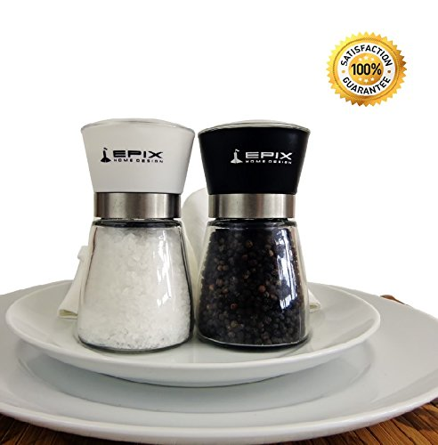 Refillable Salt And Pepper Grinder Set Multi Function