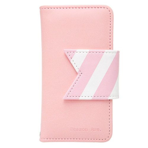 [Japan-genuine agency] Happymori iPhone5S/5 case Reason Ave. Pink diary type HM1624i5