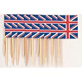 200 x Union Jack Sandwich Flags Picks 70mm, Great idea for the Royal Weddingby Sussex Supplies