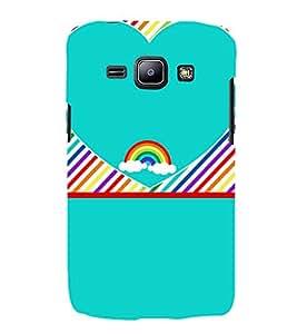 Beautiful Rainbow Pattern 3D Hard Polycarbonate Designer Back Case Cover for Samsung Galaxy J1 :: Samsung Galaxy J1 J100F (2015)
