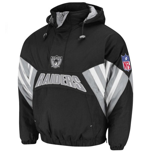 NFL Mitchell & Ness 6003 Vintage Nylon Flashback Jacket Oakland Raiders 5XL at Amazon.com