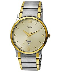Timex Classics Analog Beige Dial Mens Watch - TW000R426