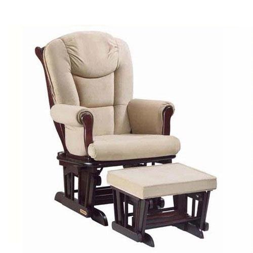 Shermag Glider Rocker Combo, Espresso with Pearl Beige