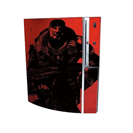 Gears Of War PS3 Playstation 3 Body Protector Skin Decal Sticker, Item No.PS30853-55