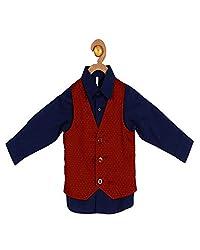 Campana Boys Navy Shirt With Waistcoat
